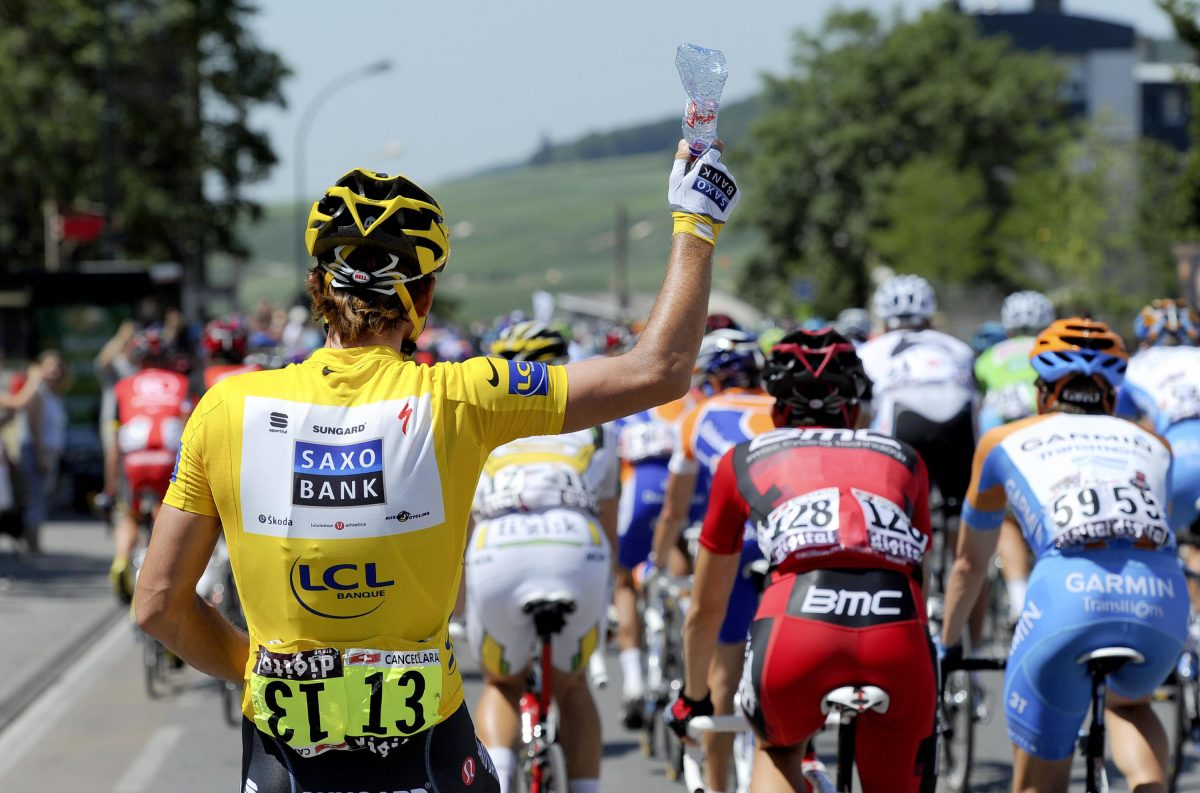 Got the minerals: Vittel, the peloton's drink of choice
