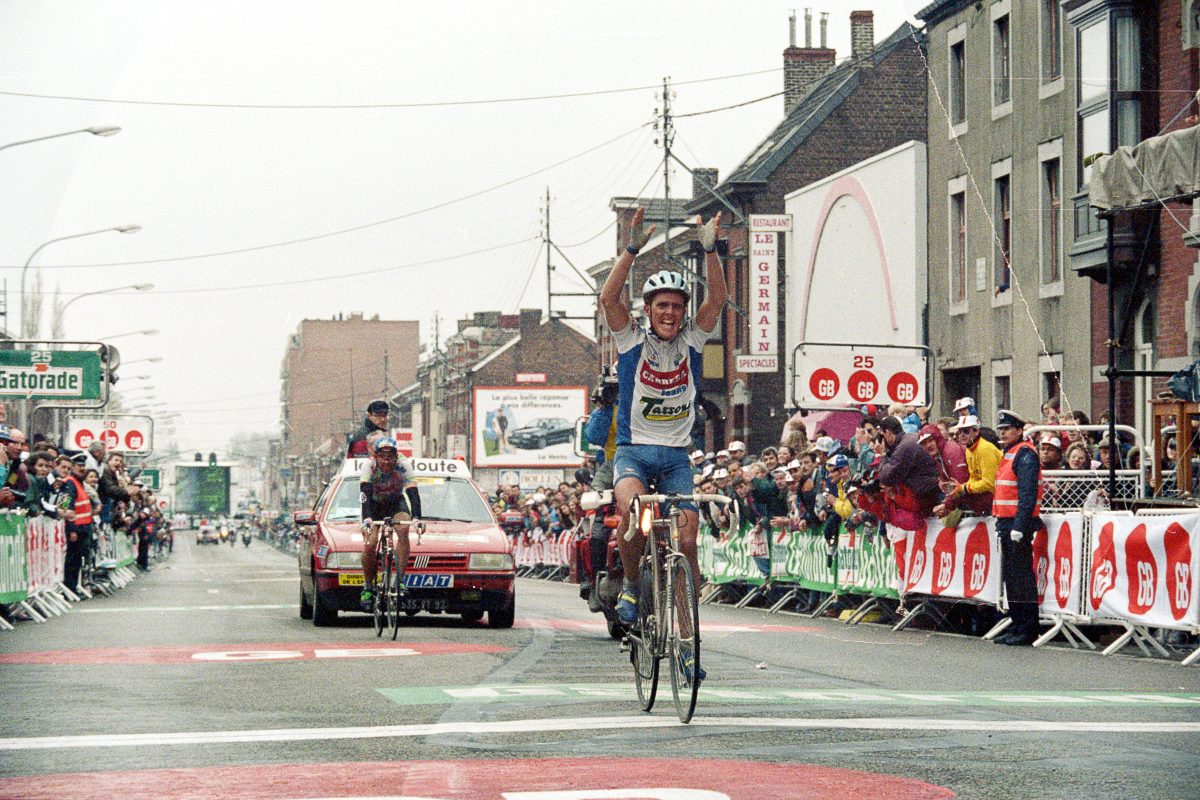 Mid-race conversations: how Rolf Sorensen won Liege in 1993