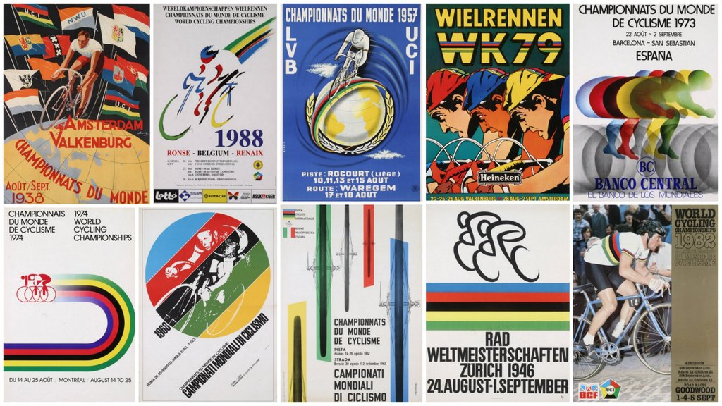 The history of the World Championships in ten posters