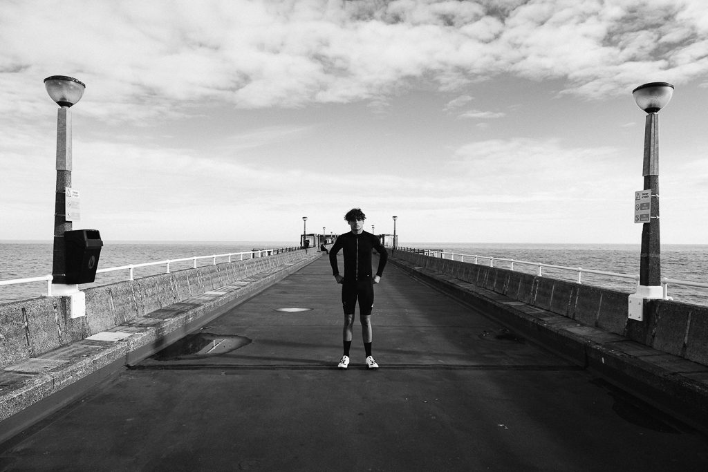 On Deal Pier shooting for Desire in Rouleur