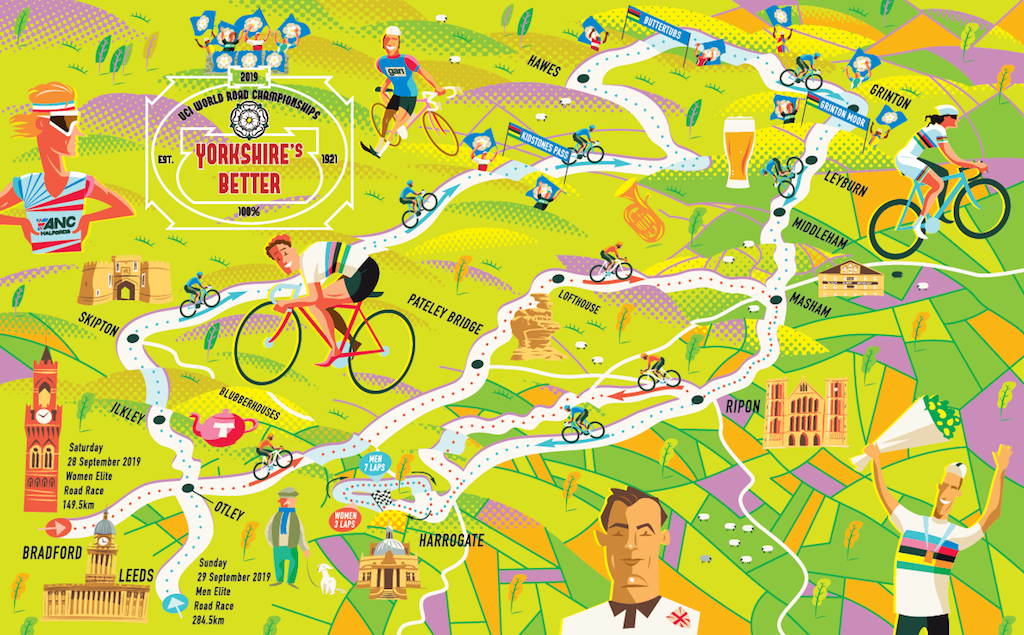 Coursework: designing the Yorkshire 2019 Worlds route