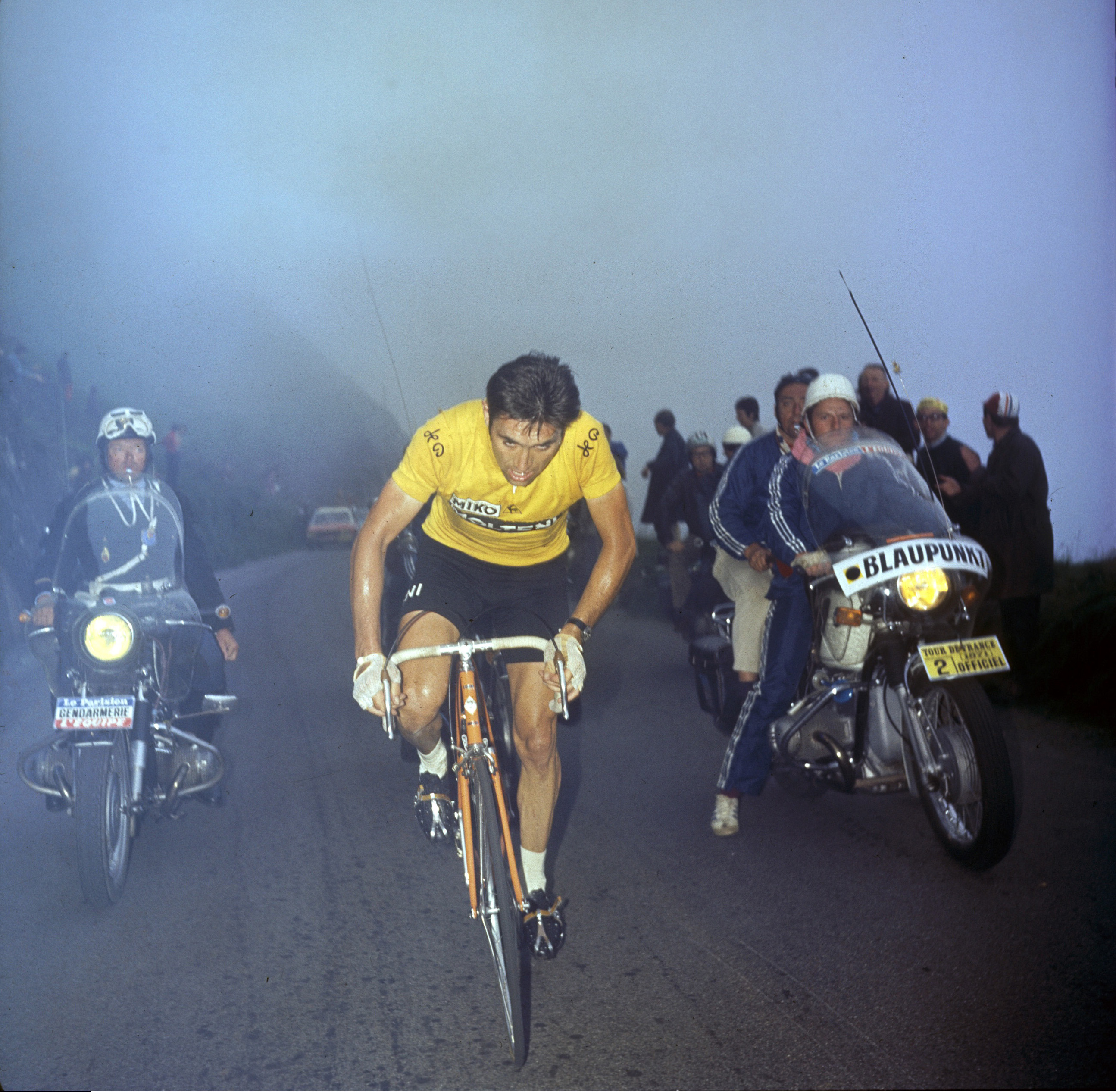 Eddy Merckx in the yellow jersey at the 1971 Tour de France