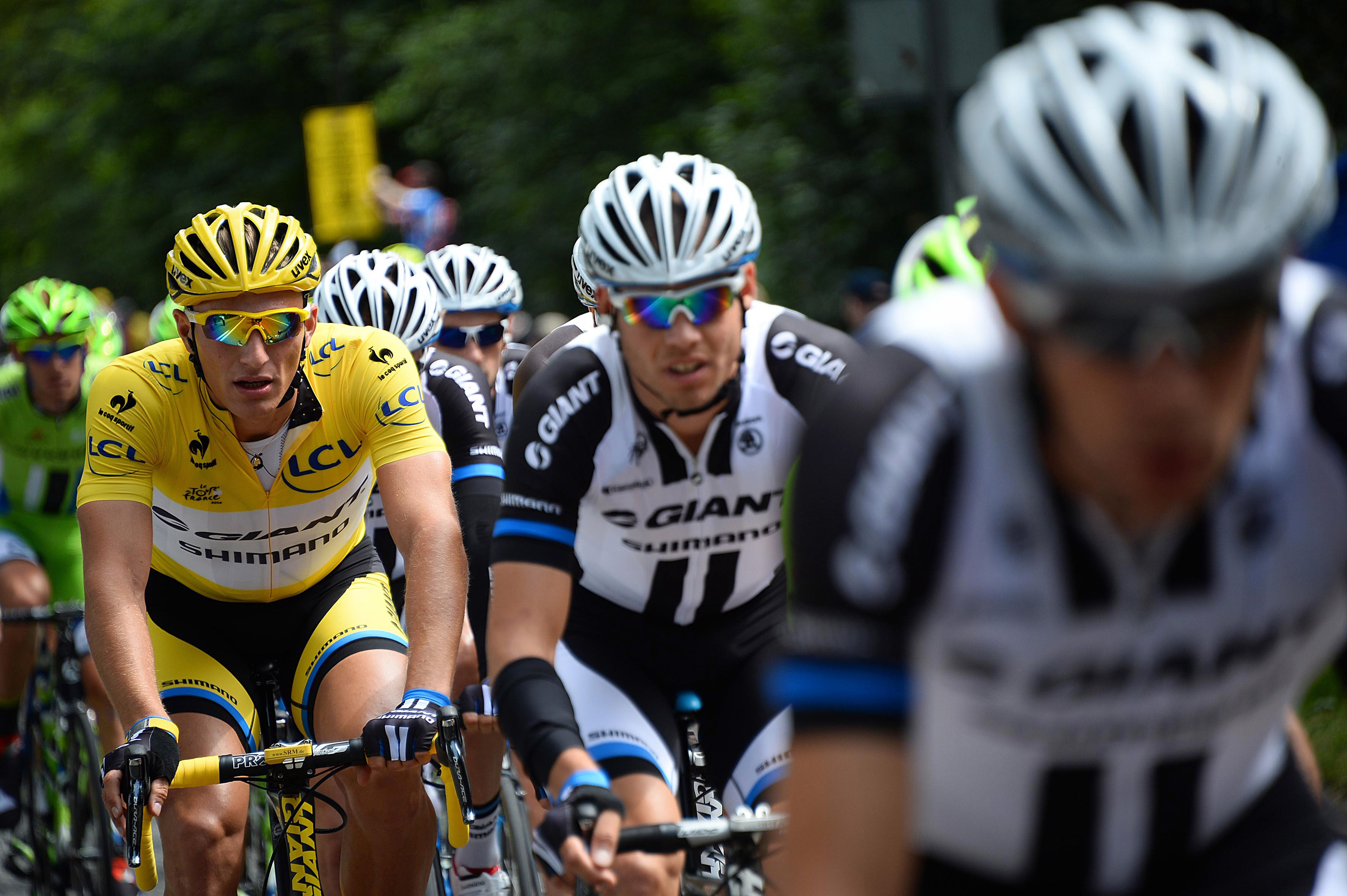 Marcel Kittel in the yellow jersey at the 2014 Tour de France