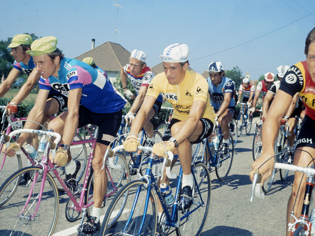 Lucien Van Impe in the maillot jaune at the 1976 Tour de France