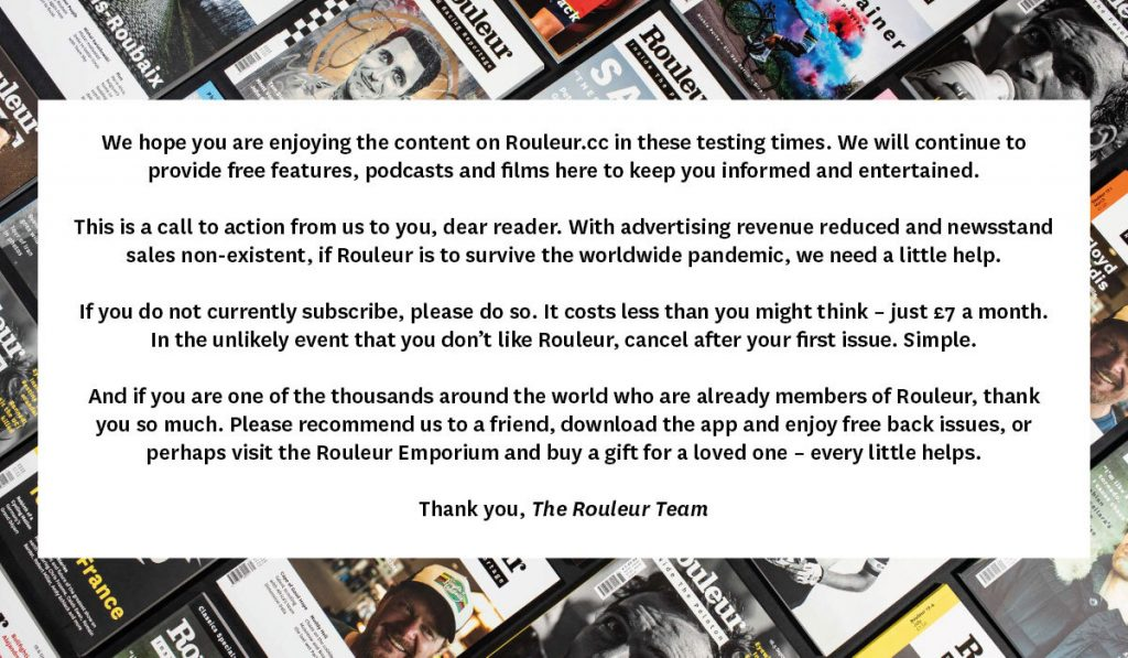 Rouleur subscribe banner